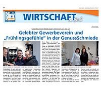 """Blick Aktuell Nr. 16/2017 – Gelebter Gewerbeverein und """"Frühlingsgefühle"""" in der GenussSchmiede"""