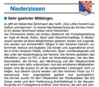 Gewerbeverein unterstützt den Kommentar von Bürgermeister Rolf Hans zur Kirmes