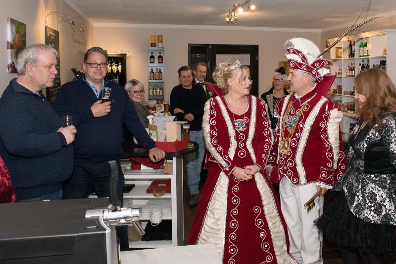 Hoher karnevalistischer Besuch im Februar Stammtisch beim Gewerbeverein Niederzissen