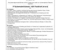 Verbandsgemeinde Brohltal sucht IT Systemadministrator / EDV Fachkraft (m/w/d)