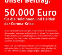 Aktion der KSK Ahrweiler: Gemeinsam da durch.